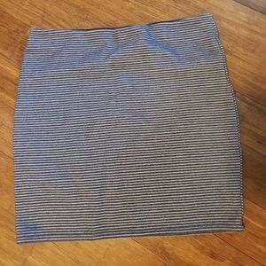 Loft striped stretch skirt
